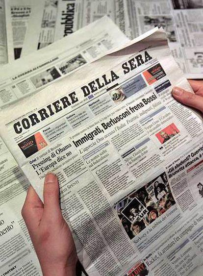 Tras controlar la televisión, Berlusconi quiere el <i>Corriere della Sera.</i>