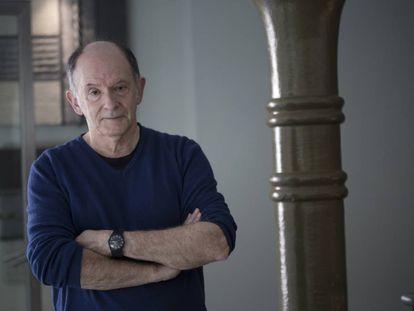 El escritor Hervé Le Corre, en Barcelona.