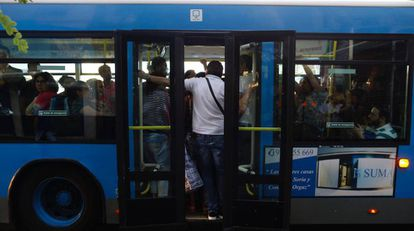Un autobús de la EMT en Madrid.