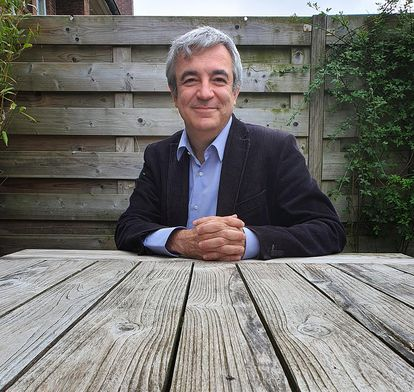 Luis Garicano en Utrech (Holanda), tras la entrevista por videoconferencia. FOTO: MARTEN GARICANO