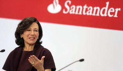 Ana Botín durante la presentación de los resultados del Santander.