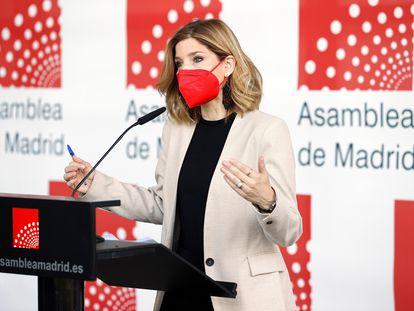 Hana Jalloul, este martes en la Asamblea de Madrid.