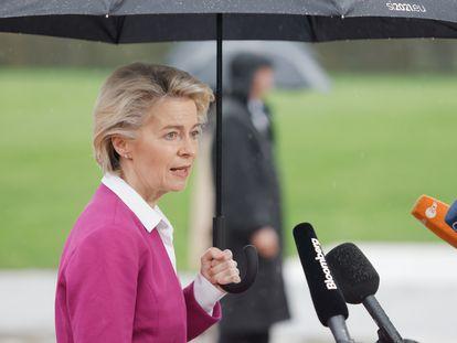 La presidenta de la Comisión Europea, Ursula von der Leyen, hablaba a la prensa el miércoles tras la cumbre celebrada en Eslovenia.