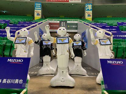 Un equipo de béisbol japonés usará a robots como espectadores para animar los partidos sin público.