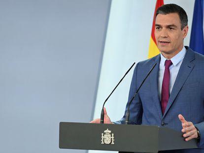 Pedro Sánchez, el sábado en La Moncloa.