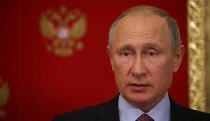 El presidente de Rusia, Vladimir Putin, este miércoles en el Kremlin.