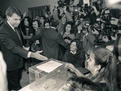 Felipe González, durante el referendum de la OTAN.