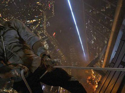 Dwayne Johnson, en 'El rascacielos'.