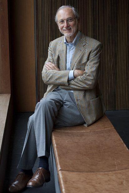Renzo Piano durante un descanso del congreso <b>Arquitectura: más por menos.</b><i> </i>