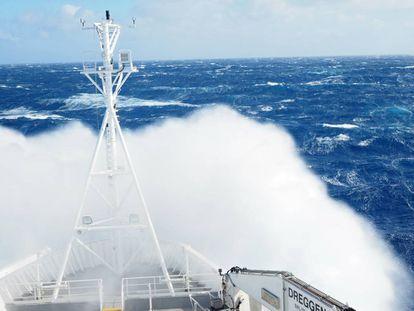Los mares que rodean la Antártida son en los que más ha aumentado la velocidad del viento.
