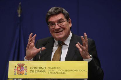 El ministro de Inclusión, Seguridad Social y Migraciones, José Luis Escrivá, este martes en Madrid.