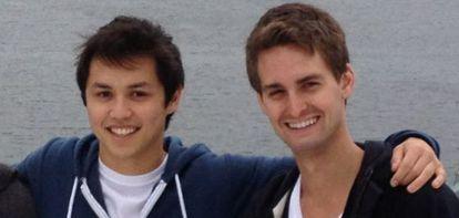 Los fundadores de SnapChat.