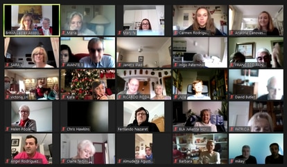 Captura de pantalla del evento virtual de la 'British Ladies Association'
