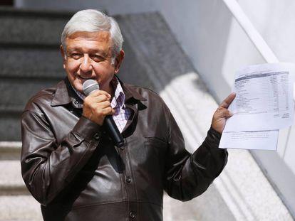 López Obrador, el pasado 15 de julio en su casa de transición.