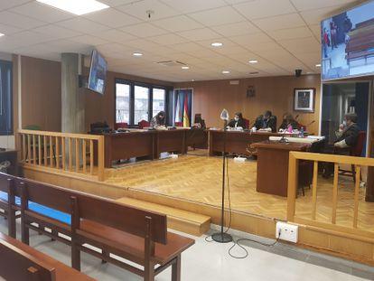 Sala de vistas de la Audiencia de Pontevedra.