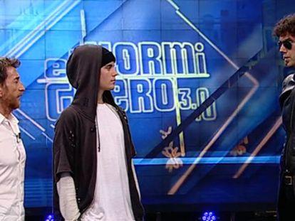 Un momento del programa de 'El Hormiguero' con Justin Bieber.