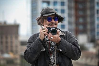 Johnny Depp en Barcelona, donde presentó su última película 'El fotografo de Minamata'.