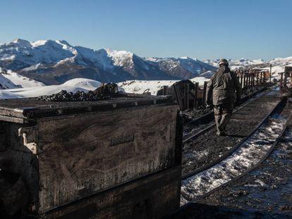 Una mina de carbón cerrada en Cerredo, Asturias.
