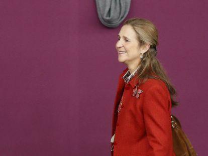 La Infanta Elena de Borbón durante la CSI3: Madrid Horse Week 2017 en Madrid.