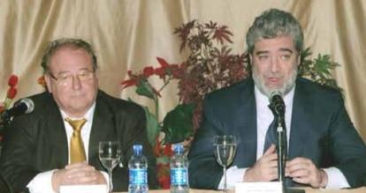 El empresario Alberto Martín junto a Miguel Ángel Rodríguez en una foto tomada antes de que éste se convirtiera en jefe de gabinete de la presidenta Isabel Díaz Ayuso.