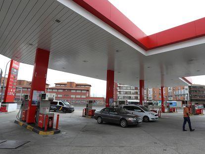 Una gasolinera en Huesca.