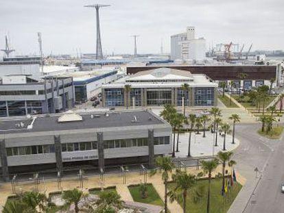 Vista aérea de la Zona Franca de Cádiz.