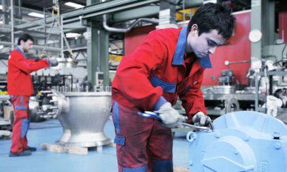 Una imagen de la cadena de montaje de la empresa Ampo.