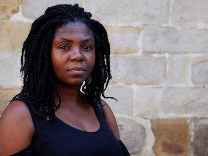 La afrocolombiana Francia Márquez, en Bilbao.