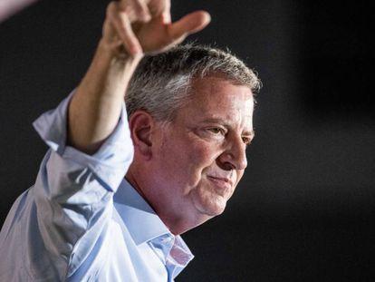 Bill de Blasio, en un acto de campaña.