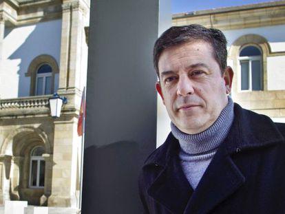 Gómez Besteiro ante la Diputación de Lugo.