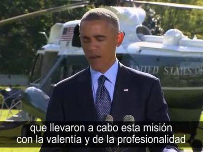 Obama explica la operación militar contra el Estado Islámico.