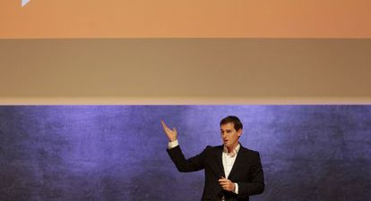 Albert Rivera, durante la presentación de las medidas anticorrupción de Ciudadanos.