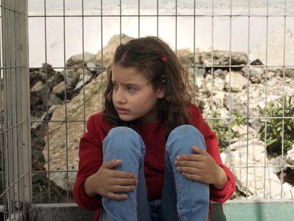 La actriz Mariam Kanj, en una escena del cortometraje 'The Present', de Farah Nabulsi.