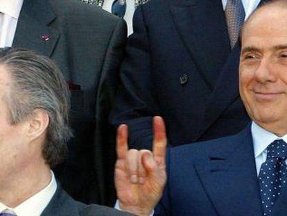 Silvio Berlusconi en una cumbre europea.