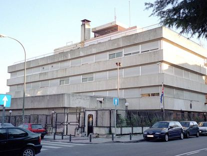 Edificio de la embajada de Cuba en el Paseo de la Habana de Madrid.