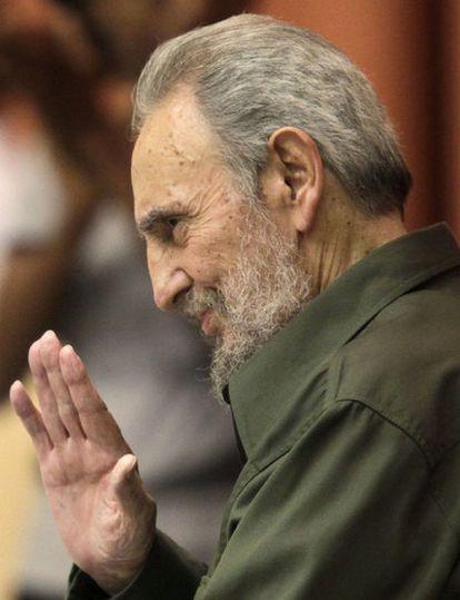 Fidel Castro, en su primer discurso en la Asamblea cubana tras cuatro años