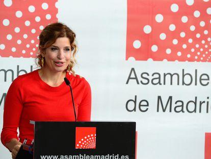 La portavoz socialista en la Asamblea de Madrid Hana Jalloul.