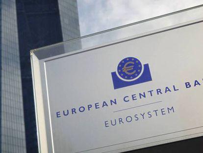 Sede el Banco Central Europeo (BCE), en Fráncfort.