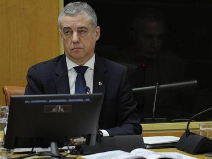 El lehendakari Iñigo Urkullu, este martes.