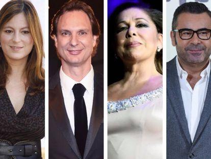 Chabeli Iglesias, Javier Cárdenas, Isabel Pantoja y Jorge Javier Vázquez. Los cuatro implicados en trifulcas televisivas.