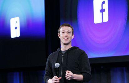 Mark Zuckerberg, creador de Facebook, durante una presentación.