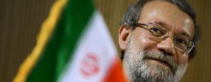 El presidente del parlamento iraní Ali Larijani, en Ginebra.