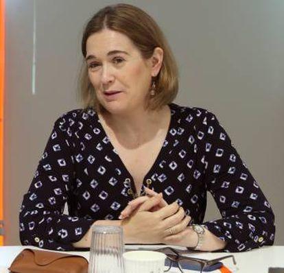 Marta Rivera, durante la reunión del comité ejecutivo de la formación naranja celebrada este lunes en la sede de la calle Alcalá, en Madrid.