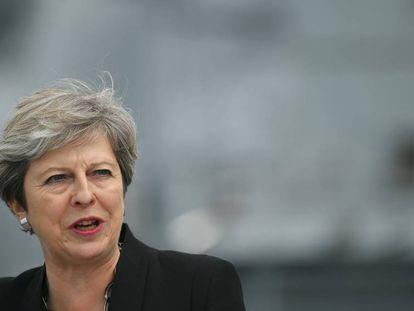 Theresa May este miércoles en Portsmouth.