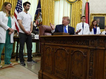El presidente Donald Trump, en la Casa Blanca este miércoles.