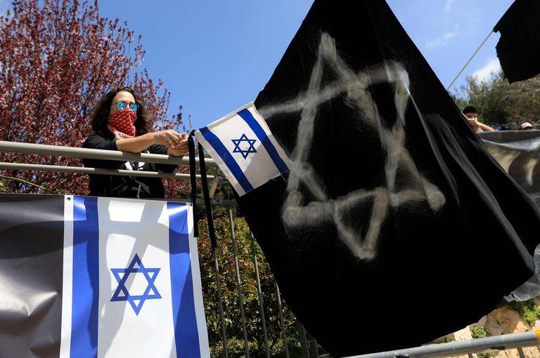 Protesta contra el bloqueo parlamentario en Israel, el miércoles en Jerusalén.