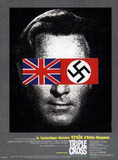 Cartel de la película Triple Cross, basada en la vida del espía Eddie Chapman