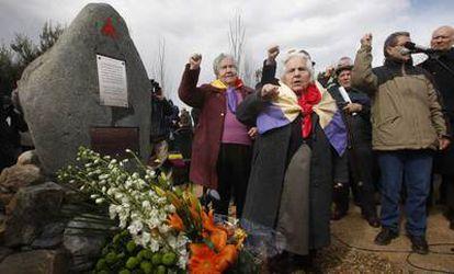 Acto de homenaje al poeta irlandés y brigadista internacional Charlie Donnelly en Rivas-Vaciamadrid.