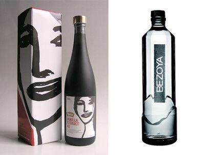 Caja y etiqueta de botella de estracto de vainilla de Óscar Mariné y botella  diseñada por Morera Desing.