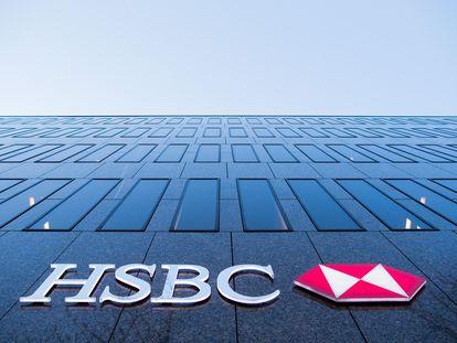 Vista de la fachada de la sede del HSBC en Dusseldorf (Alemania).